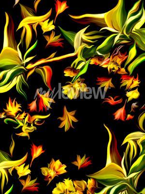 Фотообои Płomienny wodospad