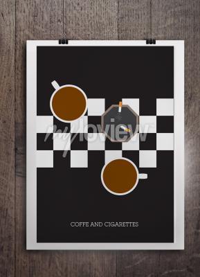 Фотообои Кава я papierosy