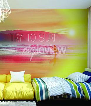 Фотообои Попробуйте Surf