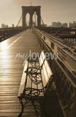 Фотообои Бруклинский мост в сепии
