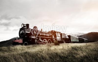 Фотообои Паровой Поезд в открытой местности транспорта концепции