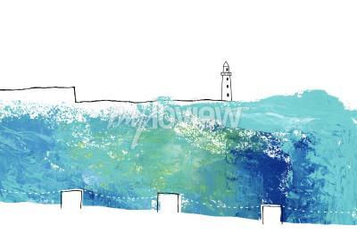 Фотообои Расположение с видом на маяк