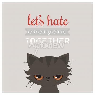 Плакат Злой кот