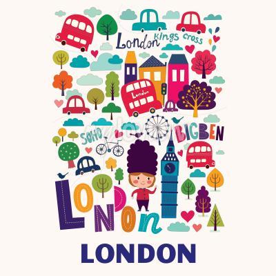 Фотообои Узор с символами Лондона