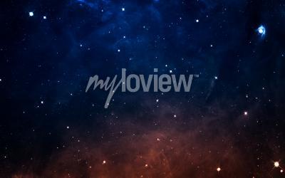 Фотообои Starfield в глубоком космосе в много световых лет от Земли