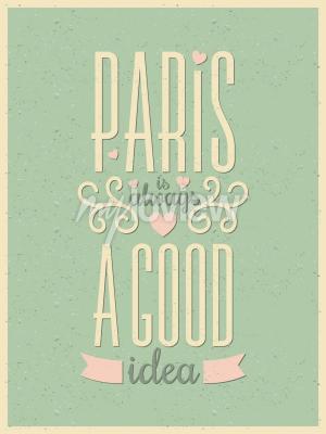 Фотообои Типография в стиле винтаж Парижский плакат