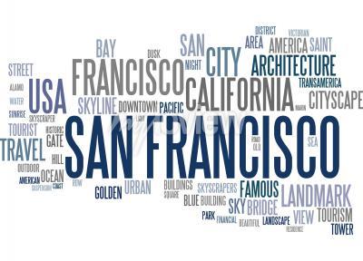 Фотообои Сан-Франциско слово облако