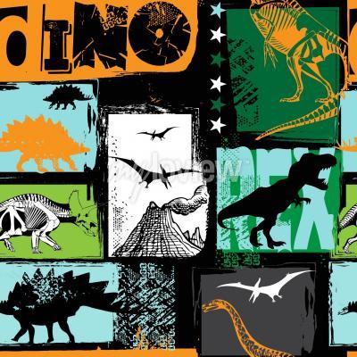 Фотообои Оригинальный дизайн с динозавром t-rex