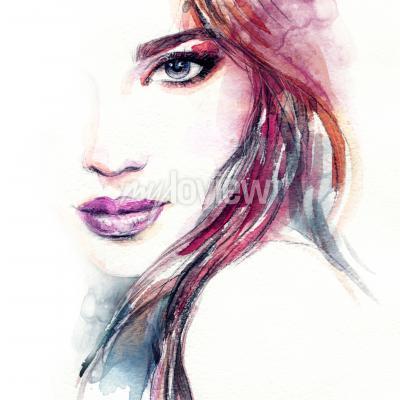 Картина Абстрактная женщина акварель акварель