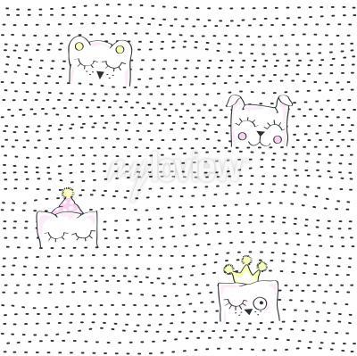 Фотообои Vector illustration of seamless baby pattern