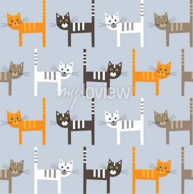 Фотообои Cats pattern