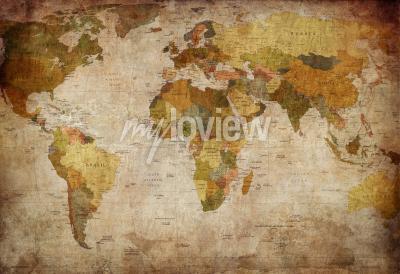 Фотообои Old map of the world