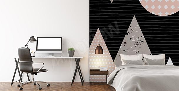 Абстрактные фотообои для спальни