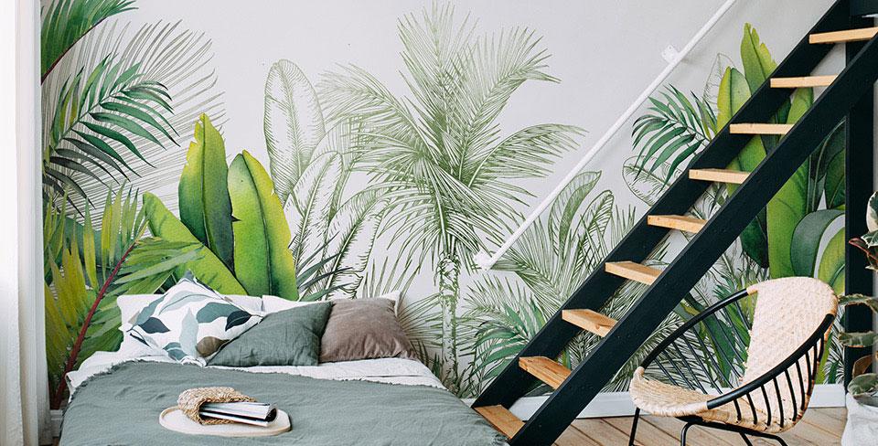 Фотообои Листья и пальмы