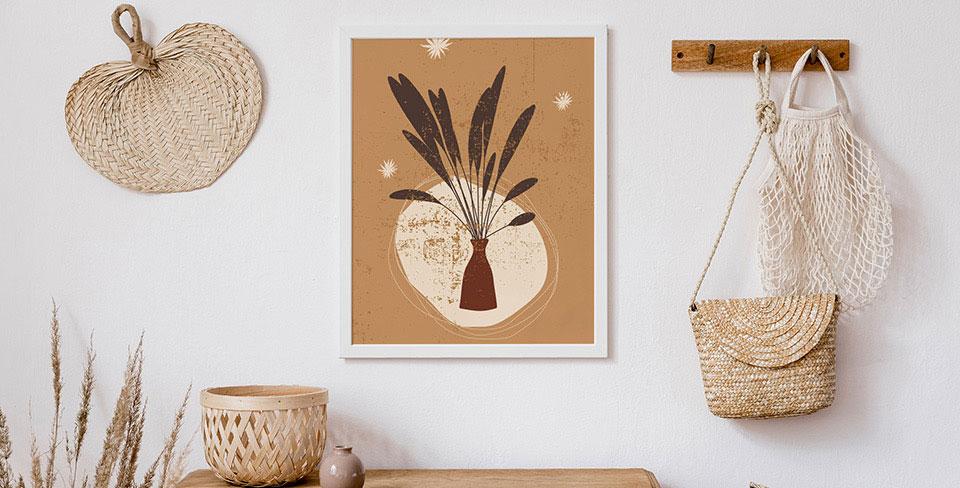 Плакат Травы в вазоне