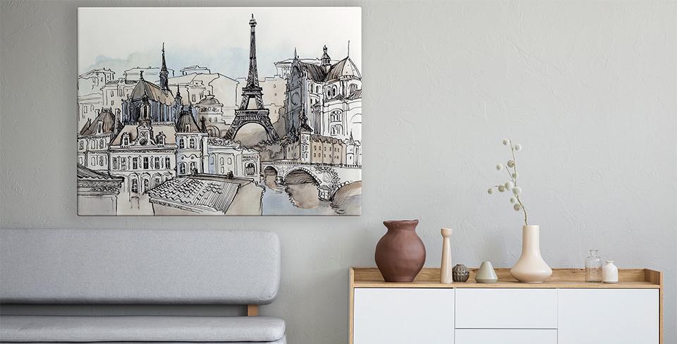 Плакат панорама Парижа