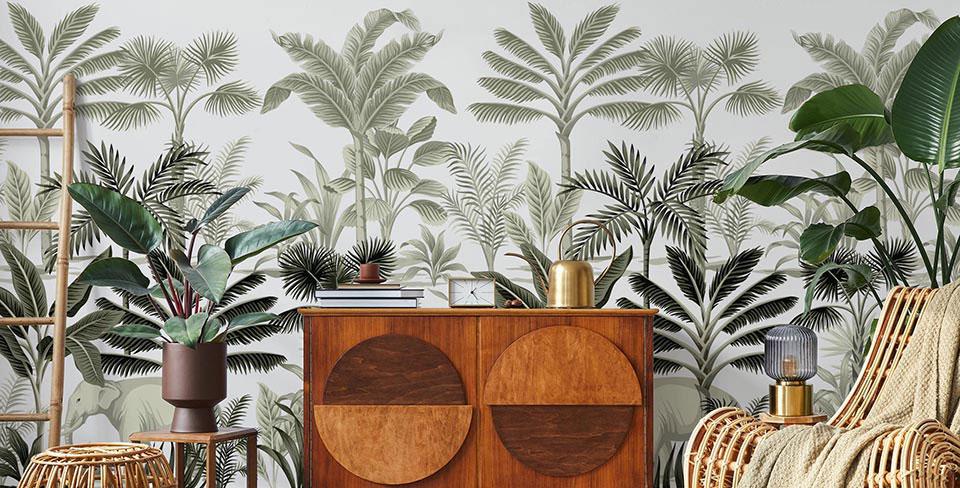 Фотообои Винтажные пальмы