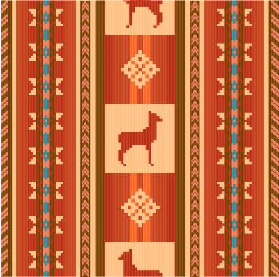 Фотообои Декоративный узор этнической ткани с лам